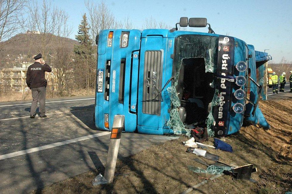 Nehoda u Prosetic, kamion smetl chlapce