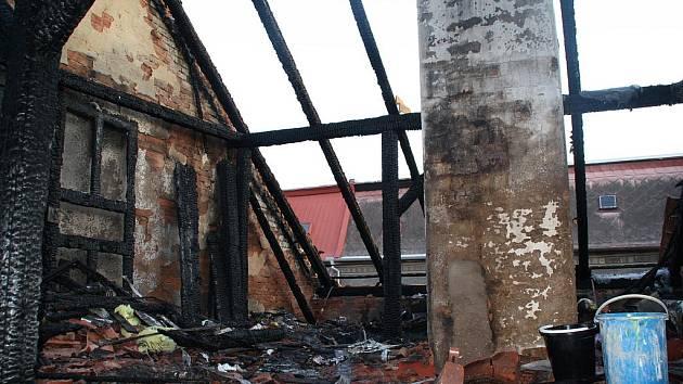 Požár od koule - RD Duchcov