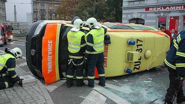 Nehoda v centru Teplic