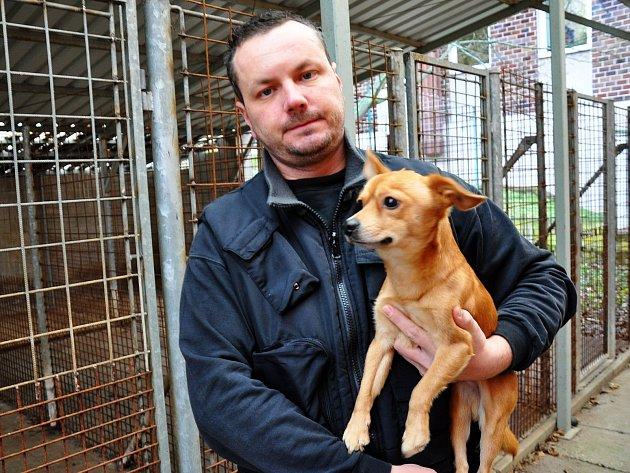 Útulek pro opuštěná zvířata v Teplicích. Na snímku Dominik Hess.