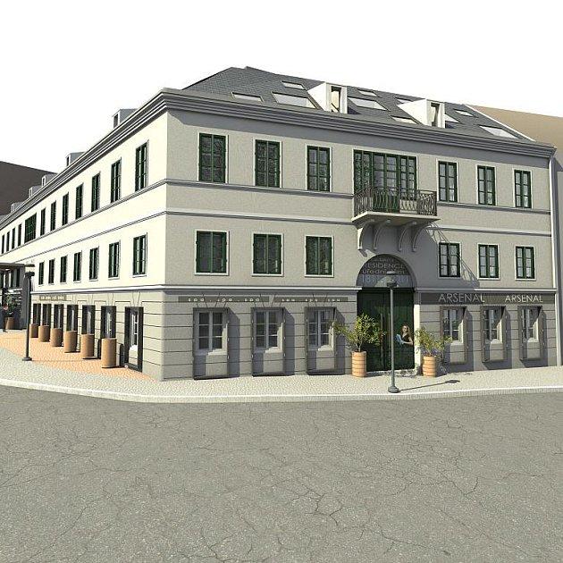 Vizualizace celého projektu je dostupná veřejnosti v Zámeckém klubu.