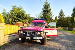 Sršní hnízdo ohrožovalo lidi, zasahovat museli hasiči Žalan.