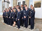 Předávání služebních medailí hasičům HZS Ústeckého kraje.