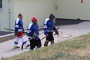 Hokejbalový turnaj v Krupce - mužstvo Loun