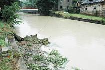 Déšť zvedl hladiny Bíliny i potoku Syčivka