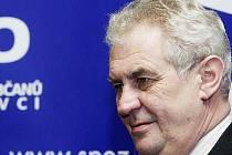Miloš Zeman, lídr Strany práv občanů v Ústeckém kraji