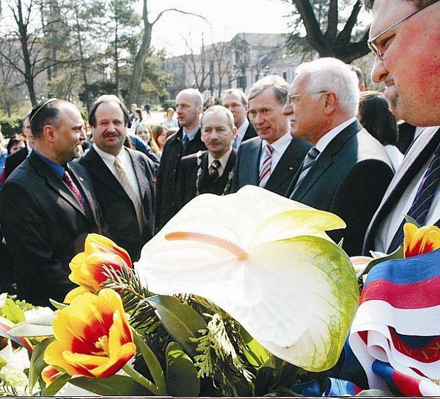 Oba prezidenti se setkali i s představiteli teplické Židovské obce