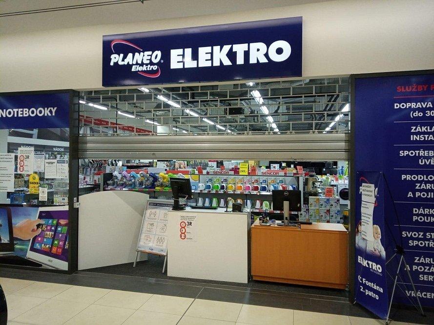 Prázdné obchody v Obchodním centru Fontána v Teplicích.