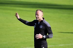 Nový trenér FK Teplice Jiří Jarošík připravuje svůj tým na zápas v Uherském Hradišti.