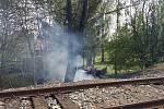 Požár v Jeníkově u Teplic.