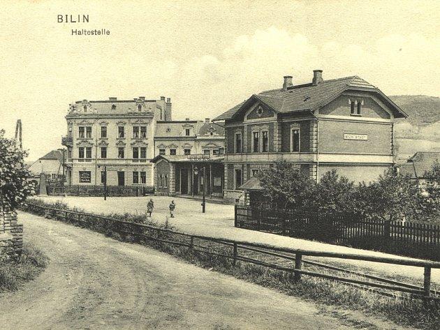 Bývalé nádraží Bílina město.