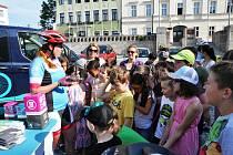 Recyklojízda zavítala i do Teplic na náměstí.