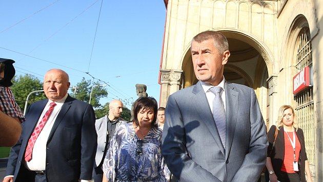 Výjezdí zasedání vlády v demisi v Ústeckém kraji - Teplice