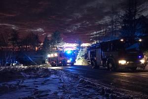 Dopravní nehoda u Horní Krupky.