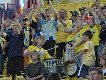 Fotbalové utkání Teplice versus Liberec