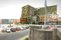 Nová plánovaná podoba hotelu Hilton v Teplicích na náměstí Svobody.