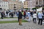 Demonstrace proti Babišovi v Teplicích.