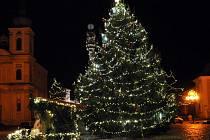 Vánoční strom v Duchcově.