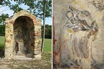 Opuštěná kaple uprostřed polí je posledním pozůstatkem obce Staré Verneřice