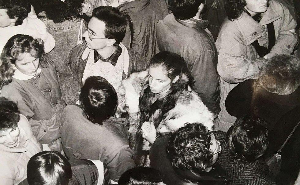 Mítink na stadionu 20. listopadu 1989, Teplice