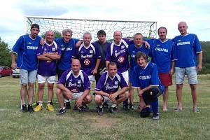 Košťany (ve fialovém) a Domažlice na Čerchov Cupu 2019