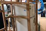 Karavan na vozík, který si doma v garáži vyrobili Ladislav Pertl s tatínkem.
