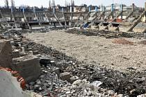 Ruiny zimního stadionu v Teplicích