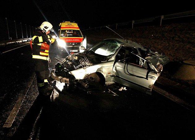Tragická nehoda u Bíliny, na silnici do Mostu