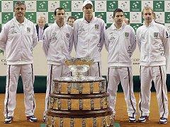 Český tenisový tým před finále Davis Cupu
