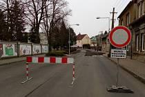 Proboštovská ulice v Proboštově je uzavřená.