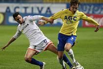 Fotbalové utkání mezi Teplicemi a Ostravou