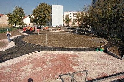 Stavba dopravního hřiště v Proseticích