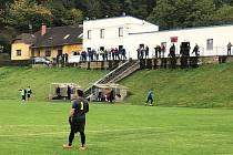 Diváci na fotbale v Ohníči