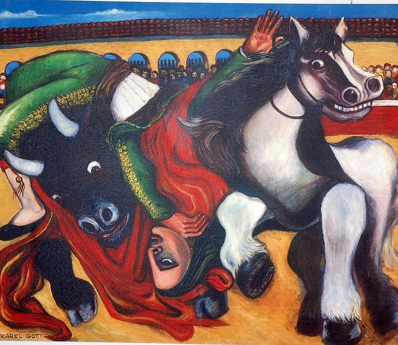 Výstava obrazů Karla Gotta v Bílině