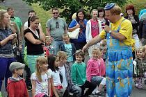 Zábavné dopoledne u příležitosti pasování malých školáčků v MŠ Fráni Šrámka v Teplicích.
