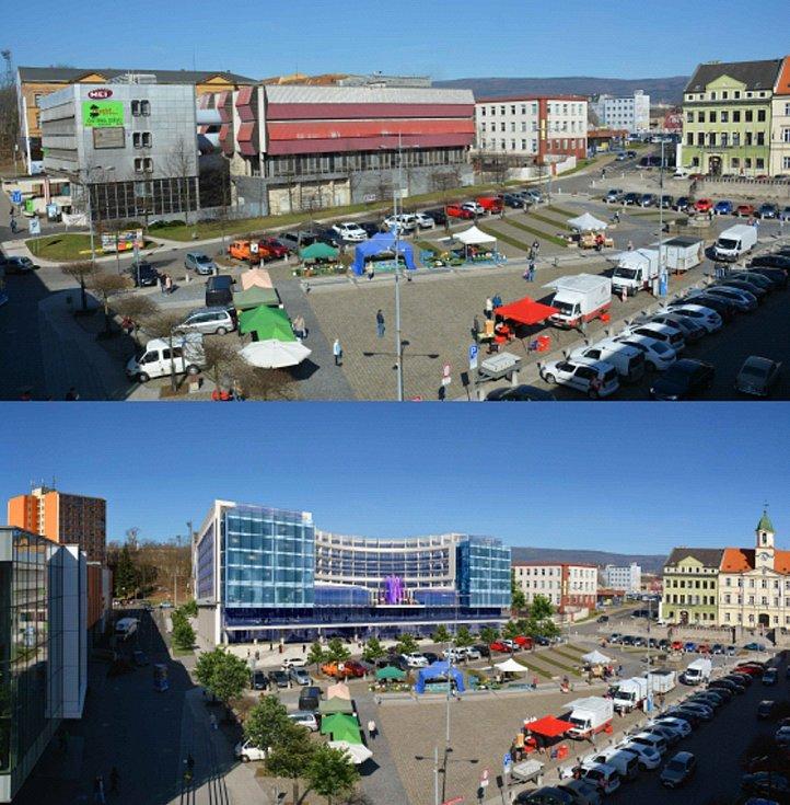 Takto by měl vypadat nový hotel Mozart na náměstí Svobody v Teplicích.