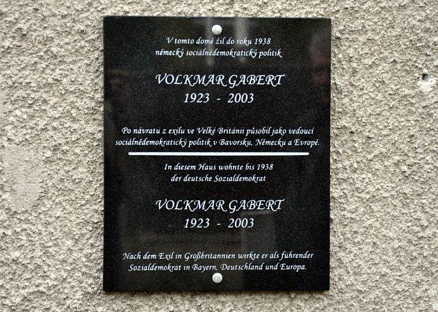 Významný politik Volkmar Gabert má kořeny vdubských Drahůnkách