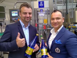 Přemysl Hruška (vlevo) s Vojtěchem Milkem, jednatelem Bílinské kyselky