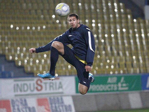 Trénink FK Teplice. Michal Smejkal