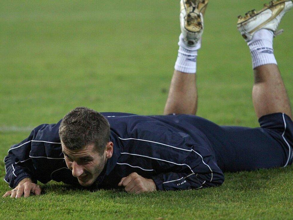 Trénink FK Teplice. Admir Ljevakovič