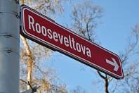 Rooseveltova ulice v Teplicích.