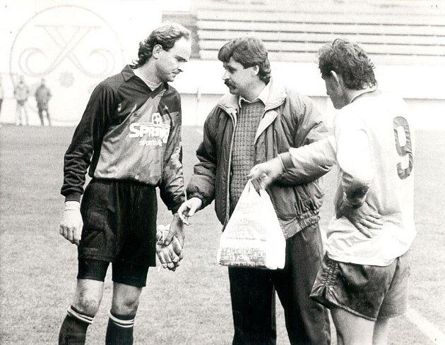 František Šnobr vroce 1992při čtvrtfinále domácího poháru, ve kterém Teplice vyřadily Vítkovice.