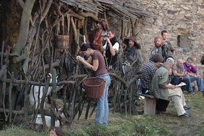Natáčení pohádky Zdeňka Trošky na hradě v Kostomlatech