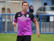 Hrající trenér Baníku Modlany Michal Doležal.