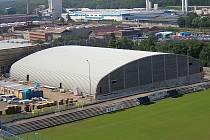 Zimní stadion v Teplicích před otevřením. Ilustrační foto.