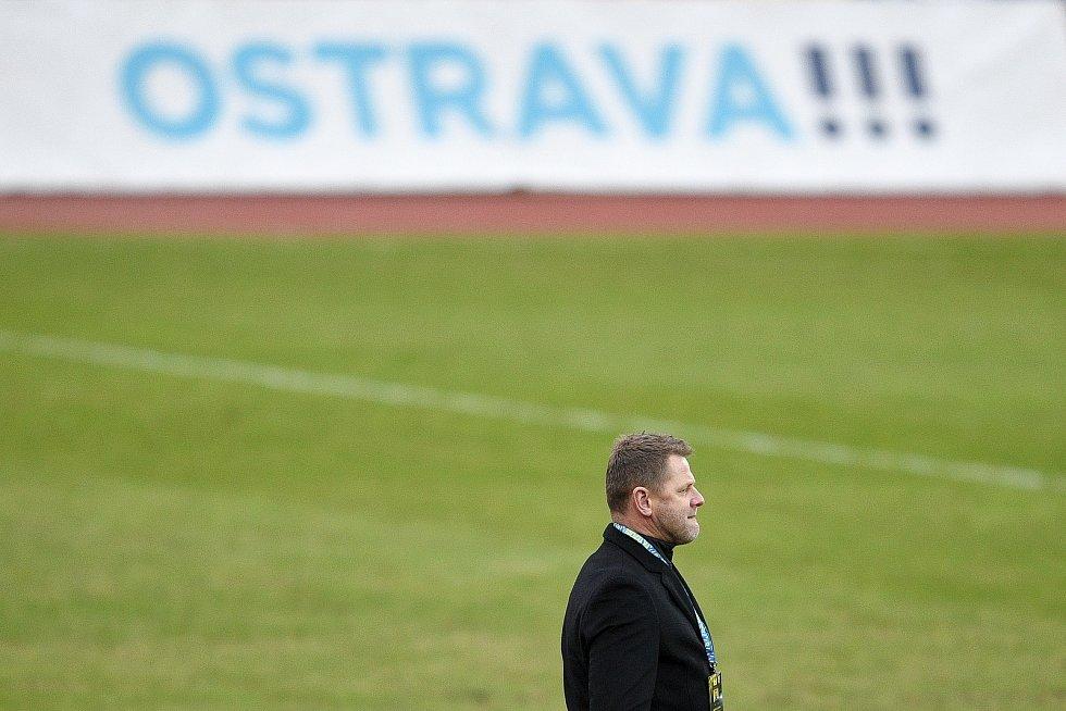 Utkání 21. kola první fotbalové ligy: FC Baník Ostrava – FK Teplice, 27 února 2021 v Ostravě. Trenér Teplic Radim Kučera.