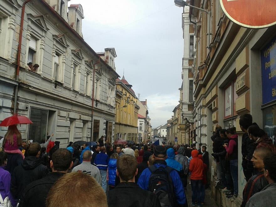 Z demonstrace v Duchcově.