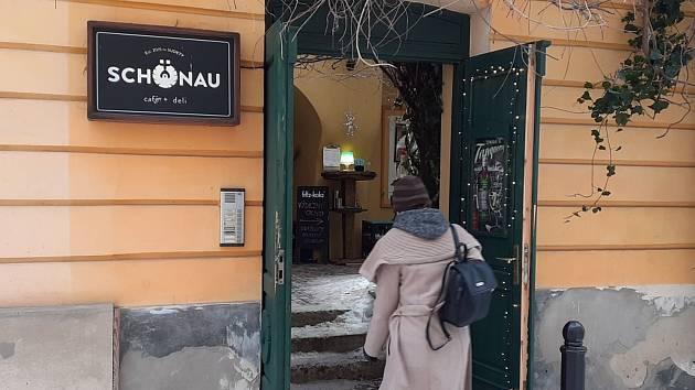 Cafe Schönau v Teplicích.