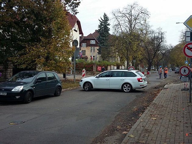V Teplicích začala uzavírka ulice Pod Doubravkou