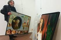 Výstava obrazů a plastik Pavla Kremla a Eduarda Vacka.
